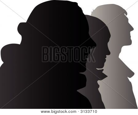 Vector Three People