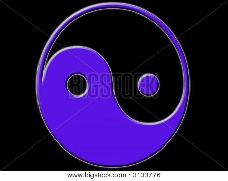 Blue Black Gold Yin Yang