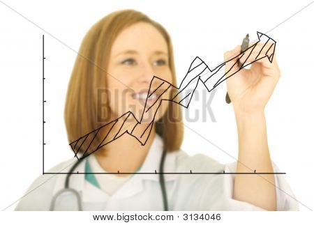 Doctor Drawing Upward Chart