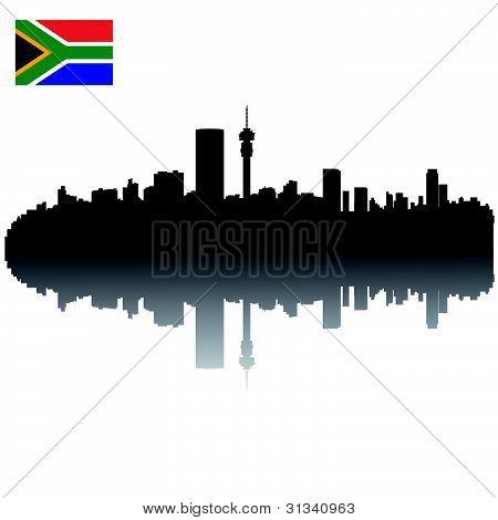Johannesburg silhouette skyline