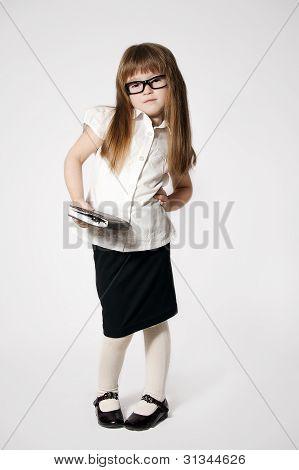 Little Girl Waering Glasses