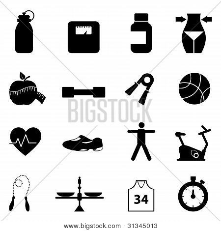 Fitness And Diet Icon Set