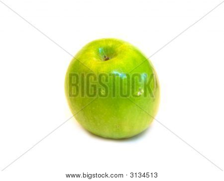 One Green Apple Close-Up