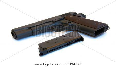 Black Pistol With Magazine