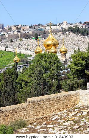Jerusalem From The Top Of The Mount Of Olives