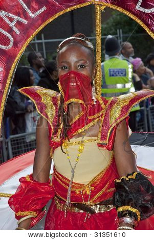 Dancer From The Perpetual Odyssey Carnival Club Float At The Notting Hill Carnival