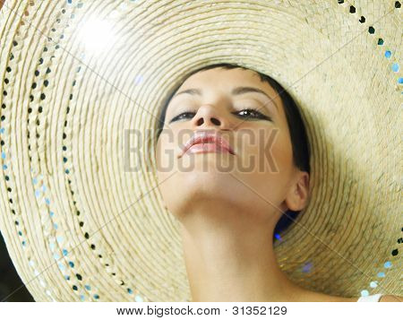 Lady In Straw Hat