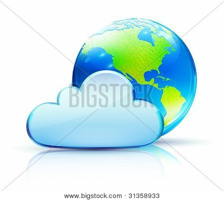 Icono del concepto de nube