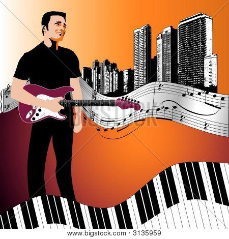 Music Background Strat Man