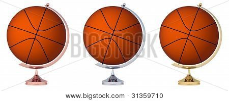 Abstract Basketball Globe