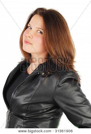 Woman In Black Jacket.
