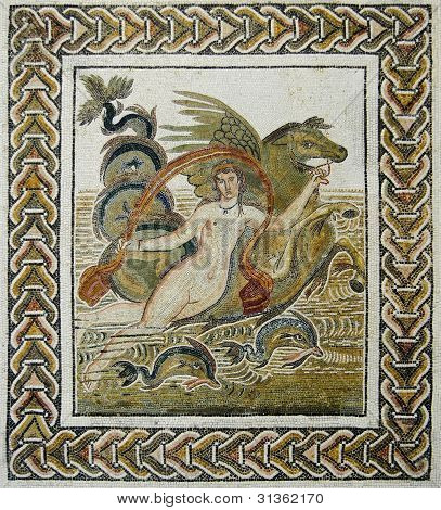 Roman Mosaic Of The Abduction Of Europe