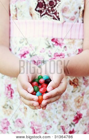 Jellybeans In Hand