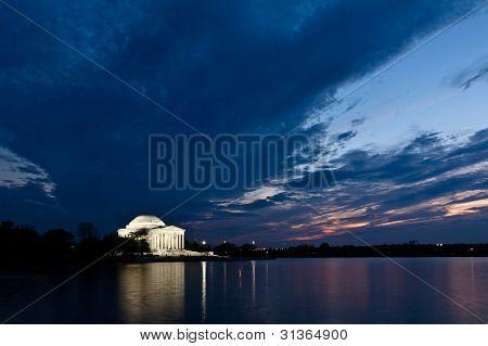 Jefferson Memorial In Washington Dc At Dusk