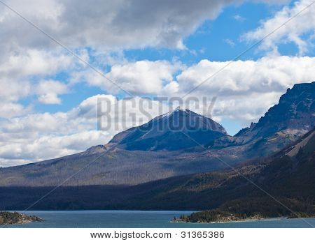 View Of St Mary Lake In Glacier National Park