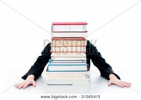 Woman Behind Books