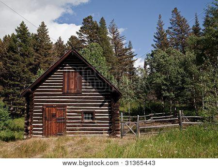 Cabin In Glacier National Park