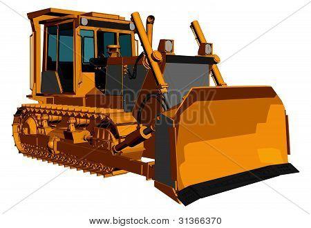 Bulldozer Vector 01.eps
