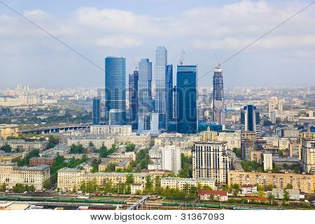 Modern Skyscrapers At Moscow City, Russia