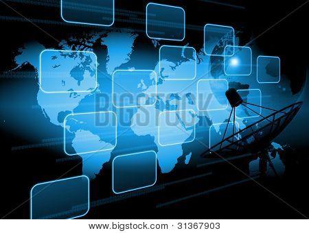 fundo de tecnologia do mundo abstrato