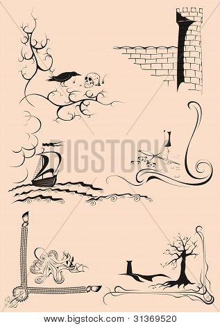 Decorative corner stories