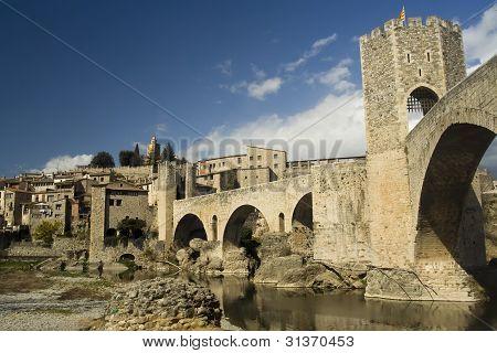 Cityscape of Besalu, Spain