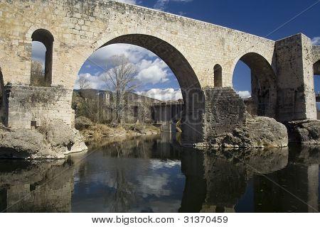 Roman bridge at Besalu, Spain