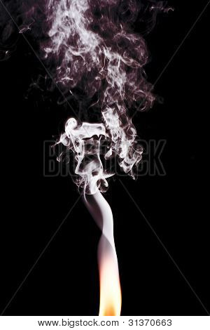 Flame Leading To Smoke