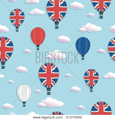 Uk Hot Air Balloon Pattern