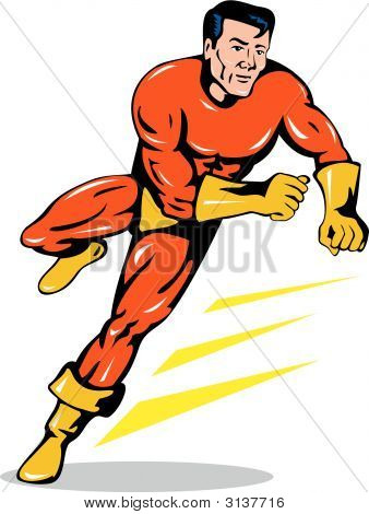 Superhero  Running