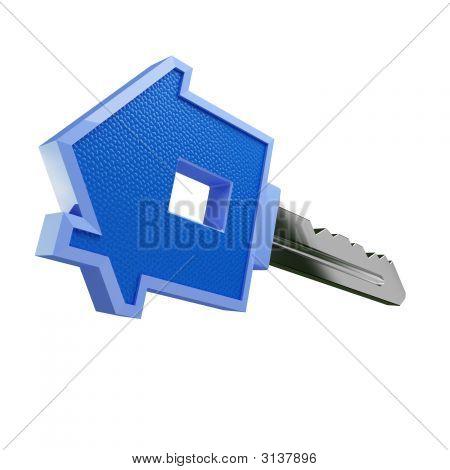 Llave de la casa azul