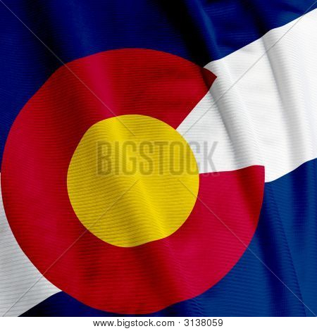 Colorado Flag Closeup