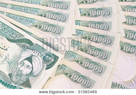 Iraqi Dinar Closeup