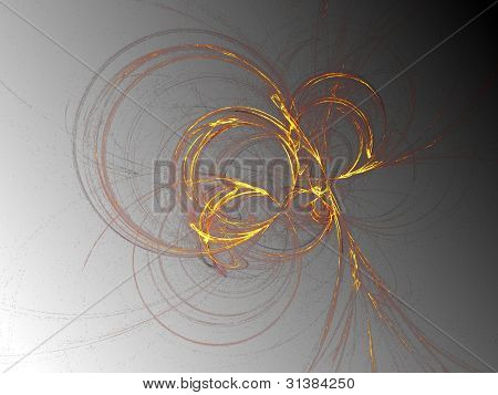 Gold Effect Fractal on blended background