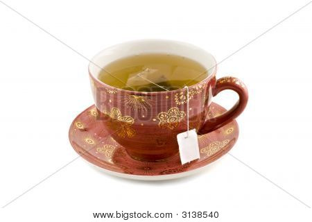 Nice Cup Of Tea Isolated On White Background