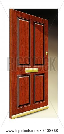 Wooden Door Open