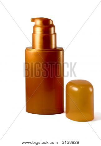 Golden Plastic Bottle