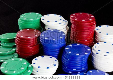 Colored Casino Chips