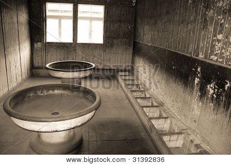 Bathroom, Sachsenhausen-Oranienburg,