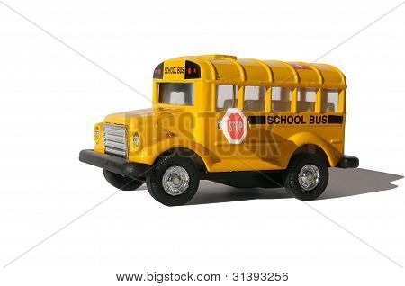 A Small Toy School Bus.