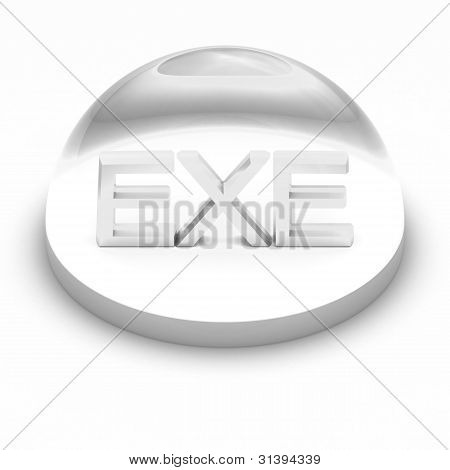 3D Style file format icon - EXE