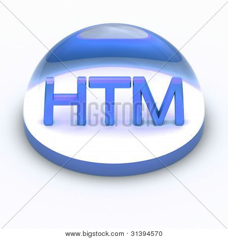 3D Style file format icon - HTML