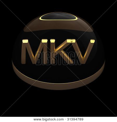 3D Style file format icon - MKV