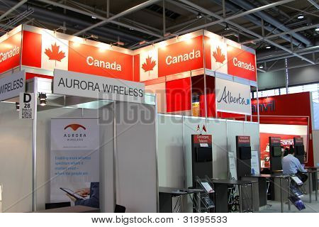 Hannover, Germany - March 10: Stand Of Canada On March 10, 2012 In Cebit Computer Expo, Hannover, Ge