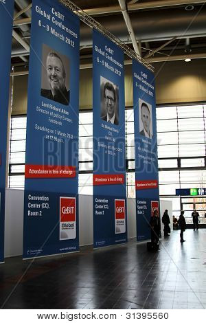Hannover, Germany - March 10: Entry Room On March 10, 2012 In Cebit Computer Expo, Hannover, Germany