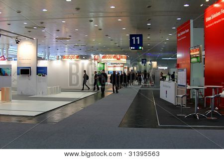 Hannover, Germany - March 10: Stand Of The Moscow City On March 10, 2012 In Cebit Computer Expo, Han