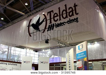Hannover, Germany - March 10: Stand Of Teldat On March 10, 2012 In Cebit Computer Expo, Hannover, Ge