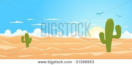 Cartoon Wide Desert