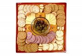 pic of tangelo  - snacks on a handmade platter that has curved edges - JPG