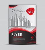 Flyer Template For Promotion, Leaflet Design, Brochure Layout, Cover Design, Annual Report Cover, Mo poster